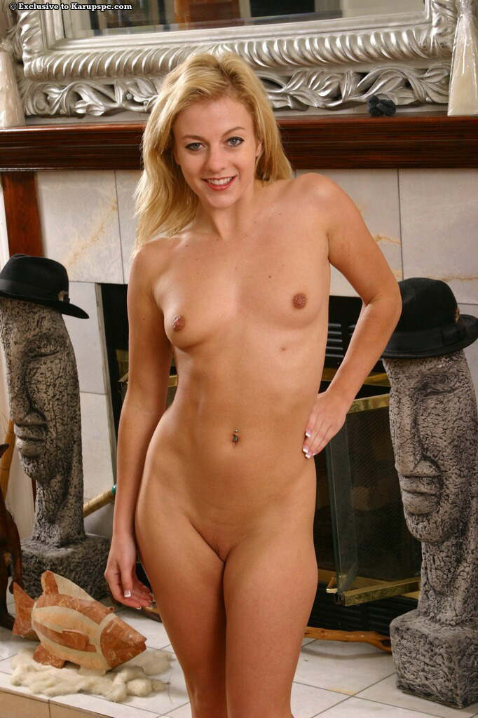 Angela Stone Strips In White Stockings After School