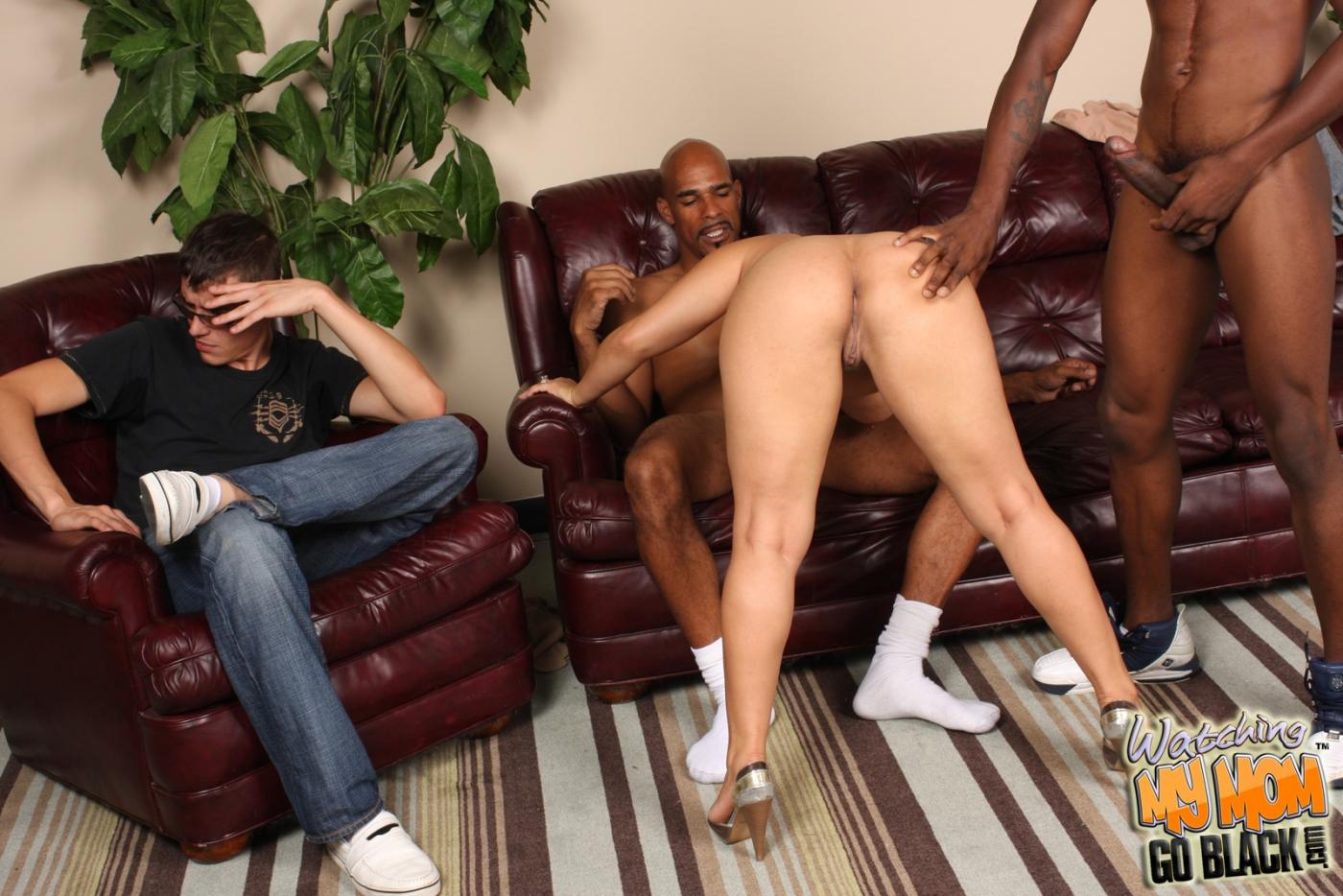 Black mom and son nude — photo 3