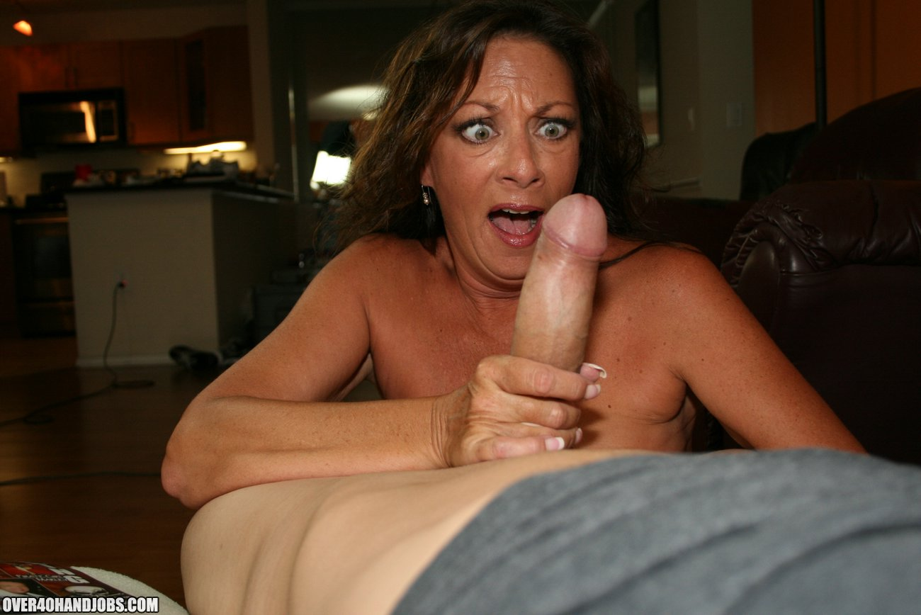 Mom Wants To See If She Can Get Her Boy's Cock Hard